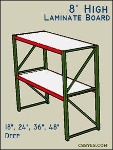 Fastrak-Starter-8-Feet-High-Laminate-Board