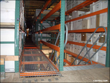 High Density Records Storage Stairs Large