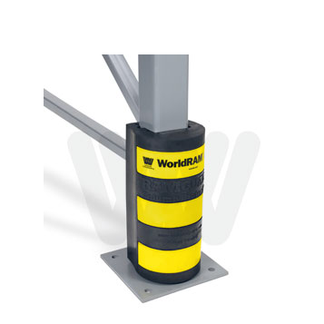 Pallet Rack Protection Yellow Stripes
